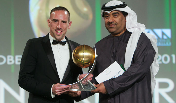 Franck Ribéry (THE GLOBE SOCCER AWARDS)