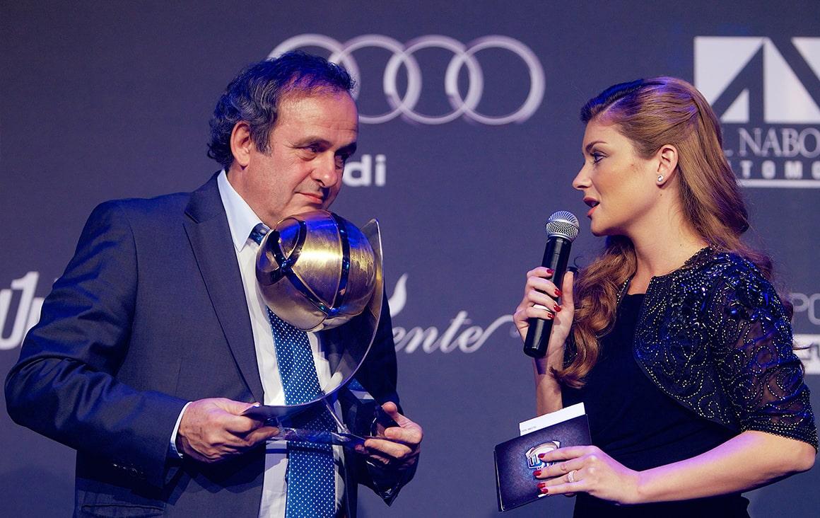 Michel Platini - Globe Soccer Career Award