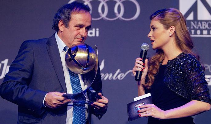 Michel Platini (GLOBE SOCCER CAREER AWARD)