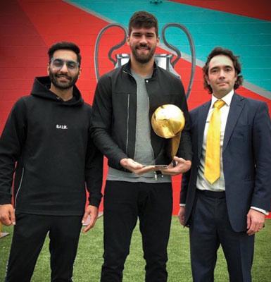 Alisson Becker - Best Goalkeeper of the Year 2018 - Globe Soccer Awards