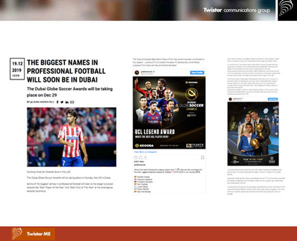 Globe Soccer Media Coverage | UAE